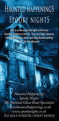 Haunted Happenings the UK's No. 1 ghost hunting company